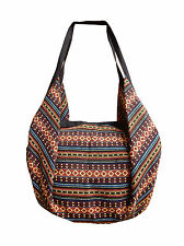 2 in 1 Backpack Shoulder Bag Bag Purse Fabric Hippie woven ethno new 32682