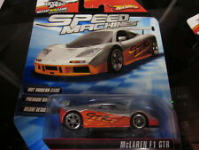 HOT WHEELS SPEED MACHINES MCLAREN F1 GTR METALLIC SILVER AND METALLIC ORANGE