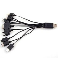 10 IN 1 UNIVERSAL USB MULTI CHARGER CABLE MOBILE MP3 PC APPLE NOKIA HTC NEW