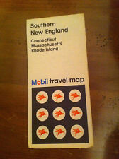 1971 MOBIL Southern New England Connecticut Massachusetts Rhode Island Road Map