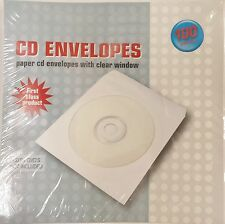 1000 CD Sleeves Paper DVD CD-R  Sleeve white Window Flap Envelope cases #102177R