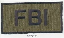 "2""x4"" Woodland Camouflage FBI F.B.I. Embroidered Patch"