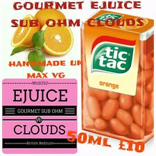 50ml Cloud chase e juice liquid Orange tictac RDA sub ohm 100 VG eliquid refill