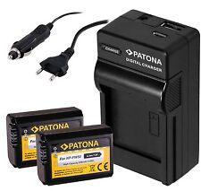 2x Patona AKKU NP-FW50 inkl. 4in 1 USB Ladegerät für Sony Alpha ILCE-7S / a7S