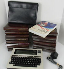 Vintage Radio Shack TRS-80 Model 100 Portable Computer Cord Case Programs Book