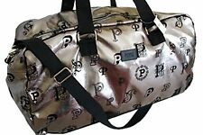 VICTORIA'S SECRET LOVE PINK PEWTER METALLIC DUFFLE BAG MONOGRAM NEW