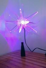 Sylvania 6 LED Morovian Star Treetop Color Changing Christmas Tree Topper 3D EUC