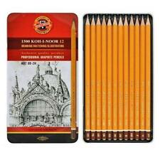 KOH-I-NOOR SET OF 12 ART PROFESSIONAL GRAPHITE PENCILS 8B-2H 1502/II