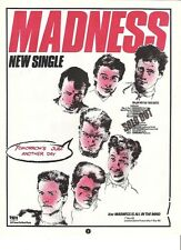 """MADNESS Tomorrow's Just Another Day 1983  UK magazine ADVERT / mini Poster 11x8"""""""