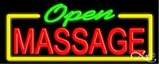 OPEN MASSAGE HANDCRAFTED REAL GLASSTUBE NEON SIGN