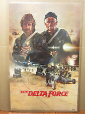 Vintage The Delta Force 1986 Chuck Norris Movie poster 1492