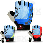 New Mens Cycling Gloves Bike Half Finger Sports Bicycle Fingerless Padded
