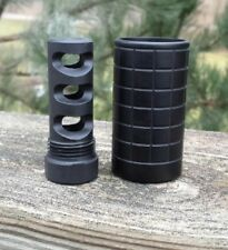 "1/2-28 Muzzle Brake W/ 13/16""x16 Threaded Outer Sleeve(2.325"" Long) SLOTTED #S-4"