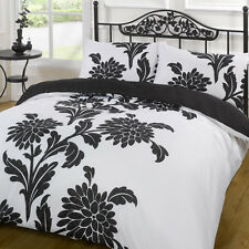 Duvet Cover Bedding Set - Funky Chrysanthemum Black/White - Single