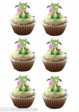 25 PRECUT BABY TV DRACO DRAGON STAND UP 3D CUPCAKE CAKE WAFER RICE CARD TOPPERS