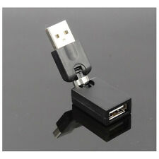 USB 2.0 Male to Female Right angled 90 Degree Adapter For Laptop Notebook Black