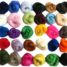 Set of 36 colors Merino Wool Fibre Wool Roving For Needle Felting materials
