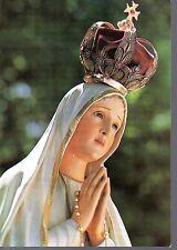 818 Madonna di Fatima - Statua Pellegrina Santino Holycard