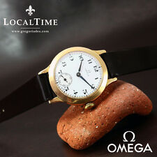 1927-28 Omega [Swiss] 18k Rose Gold Manual-Wind Dress Watch 31mm Dennison Case
