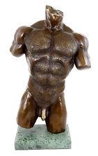 Muskulöser Männertorso - Erotische Akt Bronze - signiert M. Nick
