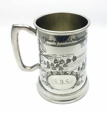 NAUTICALIA -THE BATTLE OF TRAFALGAR- ADMIRAL NELSON ATTACK PLAN PEWTER TANKARD
