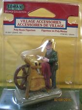 "TRAIN GARDEN VILLAGE HOUSE "" The KNIVES SHARPENER DISPLAY "" + DEPT 56/LEMAX info"