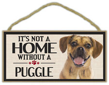 Wood Sign: It's Not A Home Without A Puggle | Dogs, Gifts, Decorations