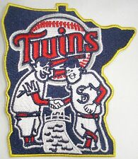 Minnesota Twins State of MN Men Shaking Hands Embroidered Logo Patch
