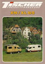 Volkswagen Transporter Tischer Caravans 1986-87 UK Market Brochure XN XL 65
