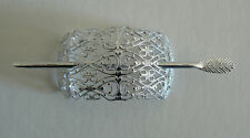 SALE Filigree Vintage Hair Clip Pin West Germany Light Weight Never Worn SilverD