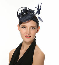Kentucky Derby Feather Floral Sinamay Headband Fascinator Cocktail