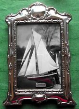 LARGE Art Nouveau London Hallmark Sterling Silver Photo Frame : Xmas Valentines