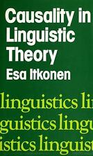 Causality in Linguistic Theory