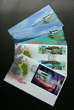 Malaysia Islands & Beaches III 2015 Coral Reef Turtle Map Sunset Fish (FDC pair)