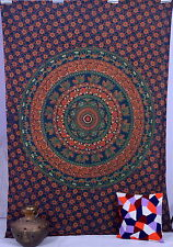 Mandala Tapestry Indian Wall Hanging Bohemian Hippie Twin Bedspread-Throw'Decor