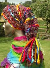 NEW RAINBOW DREAD FALL BEANIE HAT HIPPIE DREADS DREADLOCKS BOHO HIPPY GLOVES CAP