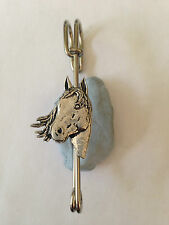 "A1 Horse's Head kilt pin Scarf or Brooch pin pewter emblem 3"" 7.5 cm handmade in"