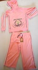 GIRLS JUICY COUTURE TOWELLING VARSITY CROP TRACKSUIT AGE 14 RRP£175 NOW£40.50