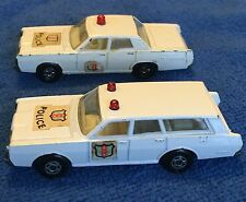 Matchbox Lesney England Superfast Mercury Police Car Lot 55 & 55 73 Red Domes