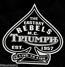 RETRO USA 'EASTBAY REBELS' BIKERS CLUB VINYL DECAL / STICKER EST 1957 TRIUMPH