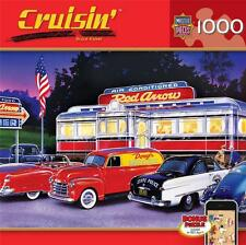 MASTERPIECES CRUISIN' JIGSAW PUZZLE DINNER AT THE RED ARROW BRUCE KAISER 1000 PC