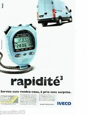 PUBLICITE ADVERTISING 116  2000  le Daily  Service Express Iveco chrono Casio