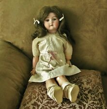 """ANTIQUE VINTAGE CUNO OTTO DRESSEL 1912-4 BISQUE DOLL, COMPO, 23"""", ALL ORIG.!!!"""