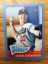 CHRIS ANDERSON 2014 TOPPS HERITAGE SP BLUE PARALLEL ROOKIE 1/1 DODGERS RARE RC