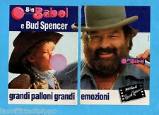 TOP990-PUBBLICITA'/ADVERTISING-1990- BROOKLYN BIG BABOL - BUD SPENCER-2 fogli