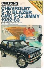 1982 1983 Chevy S-10 BLAZER & GMC S-15 JIMMY - repair & tune-up guide manual