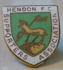 HENDON FC Vintage SUPPORTERS ASSOCIATION Badge Maker BUTLER B'ham 23mm x 26mm