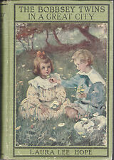 The Bobbsey Twins Search In The Great City  4 Glossies Paste-on Picture Cover