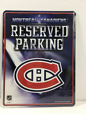 "NHL Montreal Canadiens Official ""Reserved ""Parking"" plaque (Metal, Sealed New)"