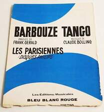 Partition vintage sheet music PARISIENNES CLAUDE BOLLING : Barbouze Tango * 60's